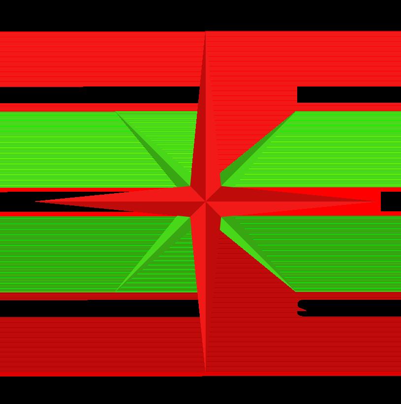 Compass displaying Cardinal and Intercardinal directions